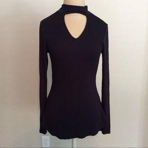 Black long sleeve ultra flirt NWT top